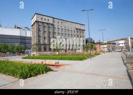Katowice in Poland / View of the city center - Stock Photo