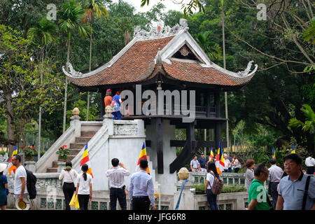 One Pillar Pagoda in Hanoi, Vietnam, Asia - Stock Photo