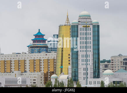 Kazakhstan, Astana City, New Administrative City skyline - Stock Photo