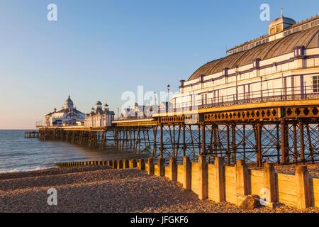 England, East Sussex, Eastbourne, Eastbourne Pier - Stock Photo