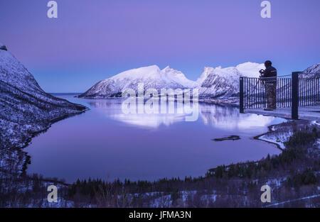 Bergsbotn, Senja Island, Norway - Stock Photo