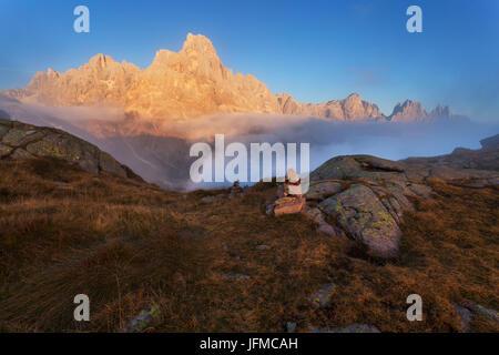 Tognazza, Alps, Lagorai, San Martino di Castrozza, Trentino, Italy, - Stock Photo