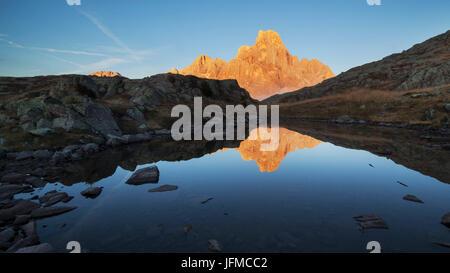 Cimon della Pala, Pale di San Martino, Dolomites, San Martino di Castrozza, Trentino, Italy - Stock Photo