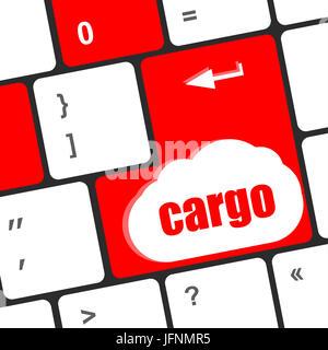 cargo word on laptop computer keyboard key - Stock Photo