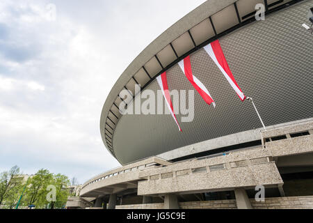Sport arena in Katowice called Spodek, Silesia, Poland - Stock Photo
