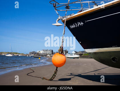 Low tide on the Cambrian Coast, Barmouth, Wales, UK - Stock Photo