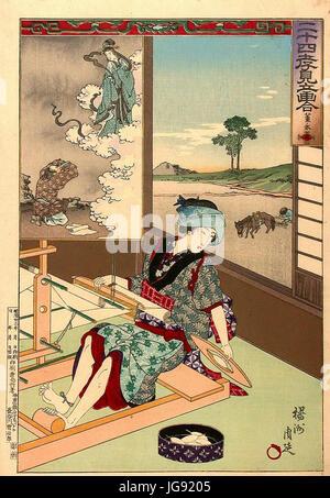 YC58Dshū Chikanobu Filial Piety - Stock Photo