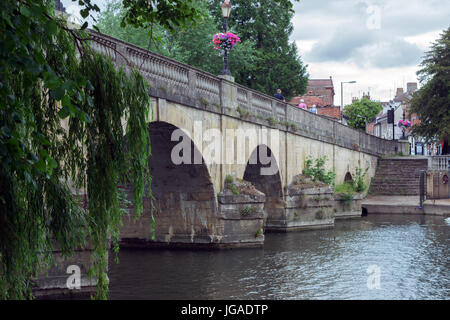Wallingford by the River Thames in South Oxfordshire - Stock Photo
