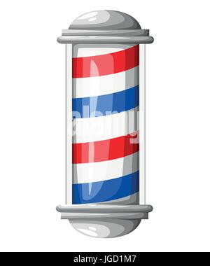 Old fashioned vintage glass Barber Shop pole with Barber Sign. Vector illustration Web site page and mobile app - Stock Photo
