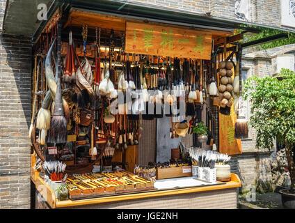 Chengdu, China - Aug 20, 2016. Souvenir shop at Jinli Ancient Street in Chengdu, Sichuan. Chengdu is the provincial - Stock Photo