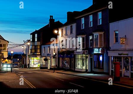 Dusk in Thornbury, Gloucester, England UK - Stock Photo