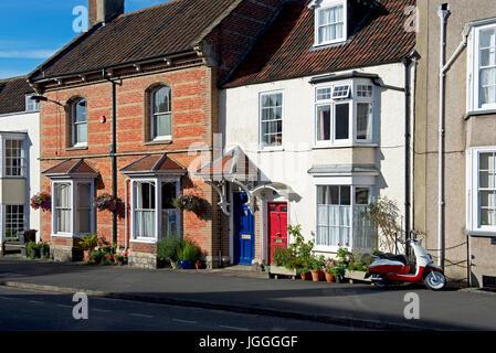 Houses in Thornbury, Gloucestershire, England UK - Stock Photo