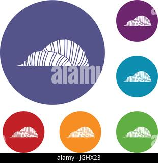 Cloud Forest and Flower Dome, Singapore icons set - Stock Photo