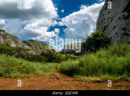 The Black Rocks of Pungo Andongo, Angola - Stock Photo
