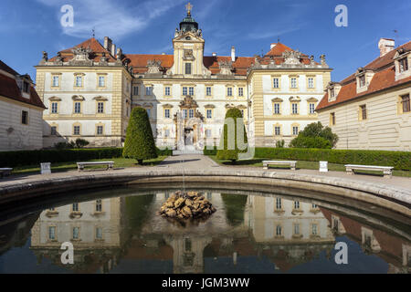 Valtice Castle, Southern Moravia, Czech Republic - Stock Photo