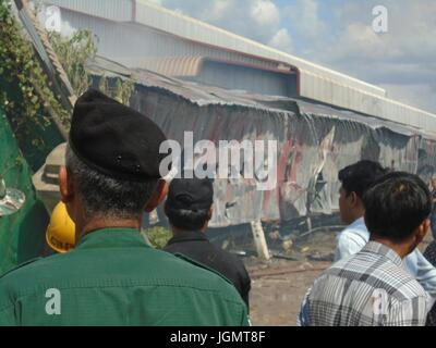 Emergency Resque Fire and First Responders Poipet Cambodia Decrepit Impoverished Town on the Thailand Border Line - Stock Photo