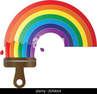 Paint a rainbow - Stock Photo