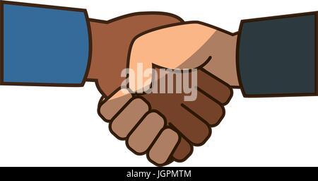 Diversity handshake symbol - Stock Photo