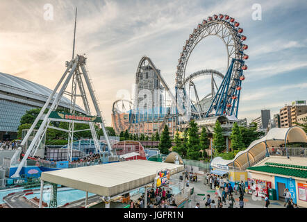 Tokyo Dome City Attractions an amusement park located next to the Tokyo Dome in Bunkyō, Tokyo, Japan | Tokyo Dome - Stock Photo
