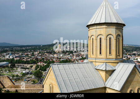 St Nicholas Church at Narikala Fortress in Tbilisi, capital city of Georgia, Eastern Europe. - Stock Photo