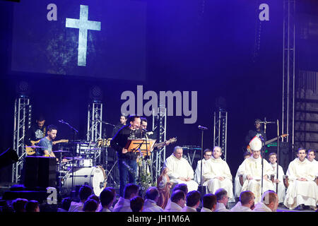 Hopeteen festival, Issy-les-Moulineaux, France. Mass. - Stock Photo