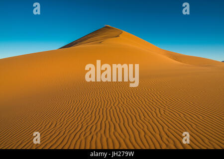 The giant Sand Dune 45, Sossusvlei, Namib-Naukluft National Park, Namibia, Africa - Stock Photo