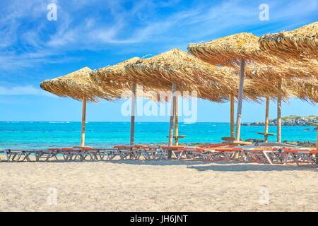 Elafonissi Beach, Crete Island, Greece - Stock Photo