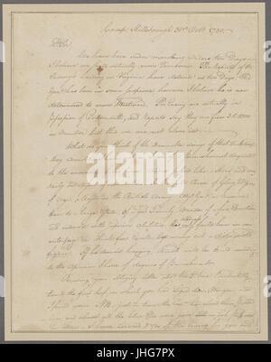 Nov. 8. Williams, (Otho Holland). Camp Hillsborough. To Brigadier General Morgan (NYPL b11868620-5376468) - Stock Photo