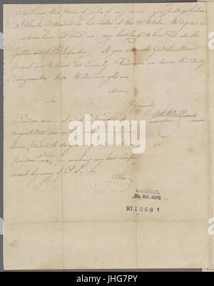 Nov. 8. Williams, (Otho Holland). Camp Hillsborough. To Brigadier General Morgan (NYPL b11868620-5376469) - Stock Photo
