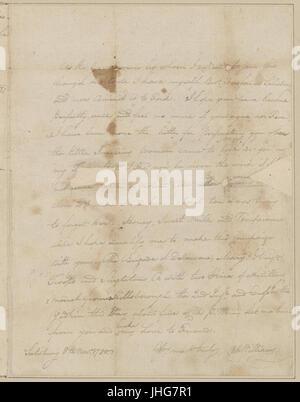 Nov. 8. Williams, (Otho Holland). Camp Hillsborough. To Brigadier General Morgan (NYPL b11868620-5376470) - Stock Photo