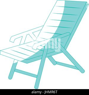beach seat icon over white background vector illustration - Stock Photo