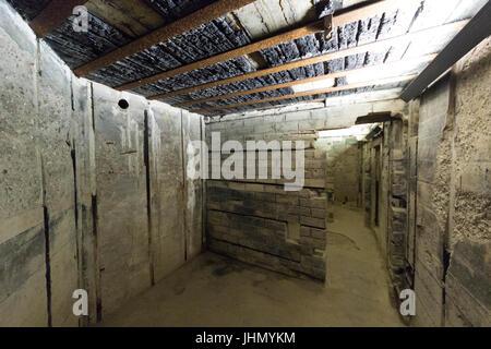 POINTE DU HOC, FRANCE - JUNE 2014; Inside the German bunker built during the second world war. - Stock Photo