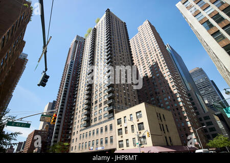 murray hill tower apartments and vanderbilt condominiums residential buildings New York City USA - Stock Photo