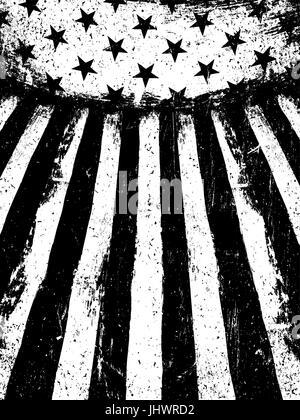 Grunge Monochrome United States Of America Flag Black And
