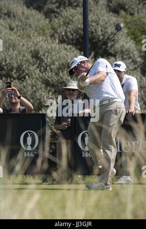 Southport, UK. 18th July, 2017.  William McGirt (USA) in action at the 146th Open Golf Championship at Royal Birkdale - Stock Photo