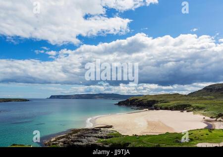 Beach at Sangobeg, near Durness, Sutherland, Scottish Highlands, Scotland, UK - Stock Photo