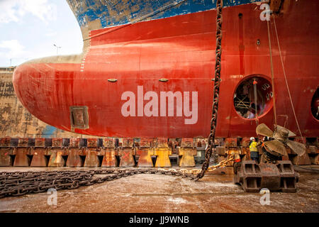 Built in 1994 France Chantier Naval de Marseille (CNdM) is a ship repair yard with modern and well equipped facilities, - Stock Photo