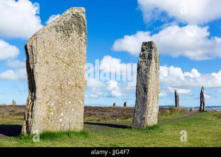 Ring of Brodgar, Orkney. Neolithic stone circle, dating from around 2000 to 2500 BC, Mainland, Orkney, Orkney Islands, - Stock Photo