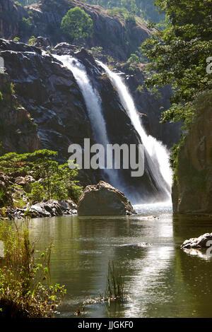 Mantenga Falls and Mantenga River Swaziland Southern Africa - Stock Photo
