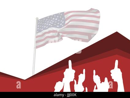 Thumbs Up for independence day - Stock Photo