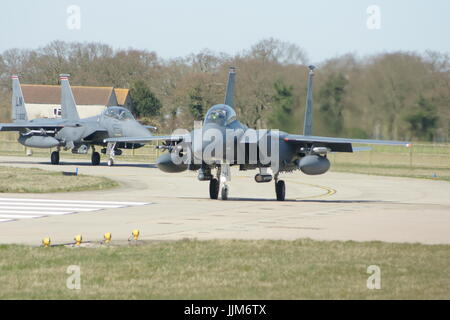 F-15 military American twin-engine, all-weather tactical fighter - Stock Photo