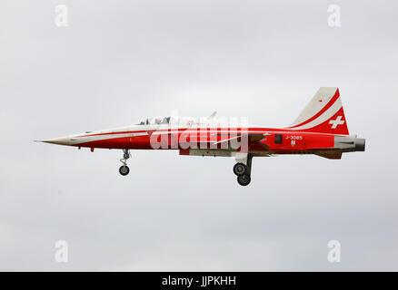 Patrouille Suisse aerobatics - Stock Photo