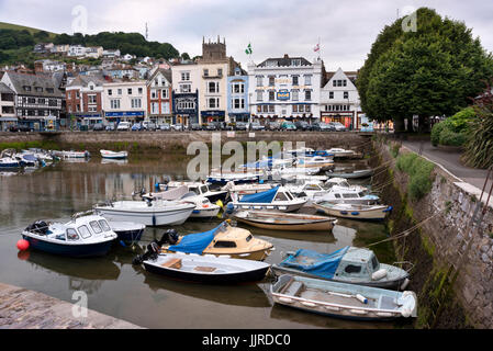 Old harbour, The Quay, Dartmouth, Devon, UK - Stock Photo