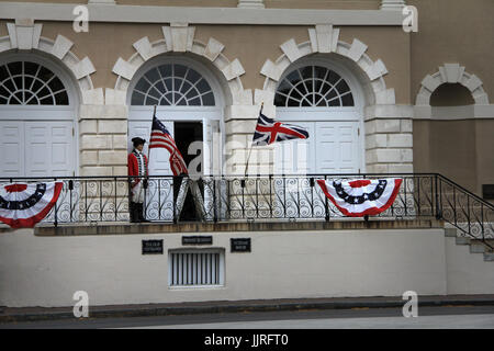The Old Exchange Customs House Downtown Charleston South Carolina - Stock Photo