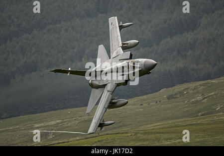 Royal Air Force Tornado GR4 on a Low Level training mission. - Stock Photo