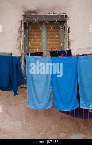 Israel, North Coast, Akko-Acre, ancient city, laundry - Stock Photo
