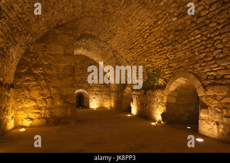 Jordan, Ajloun, Ajloun Castle, Qala-at Ar-Rabad, built 1188, interior - Stock Photo