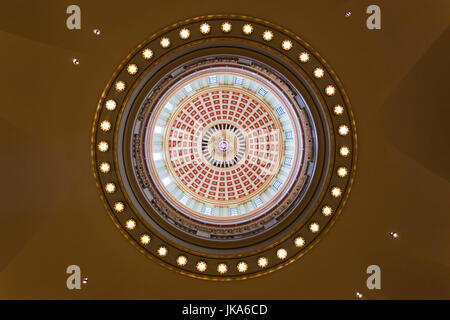USA, Oklahoma, Oklahoma City, Oklahoma State Capitol Building, dome interior - Stock Photo