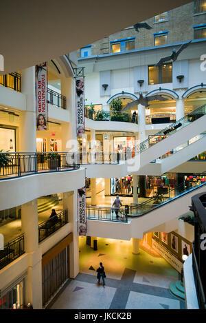 Canada, Quebec, Montreal, Les Cours Mont-Royal, shopping center, interior - Stock Photo
