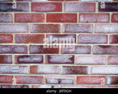 many coloured brick wall texture and pattern; Essex; UK - Stock Photo